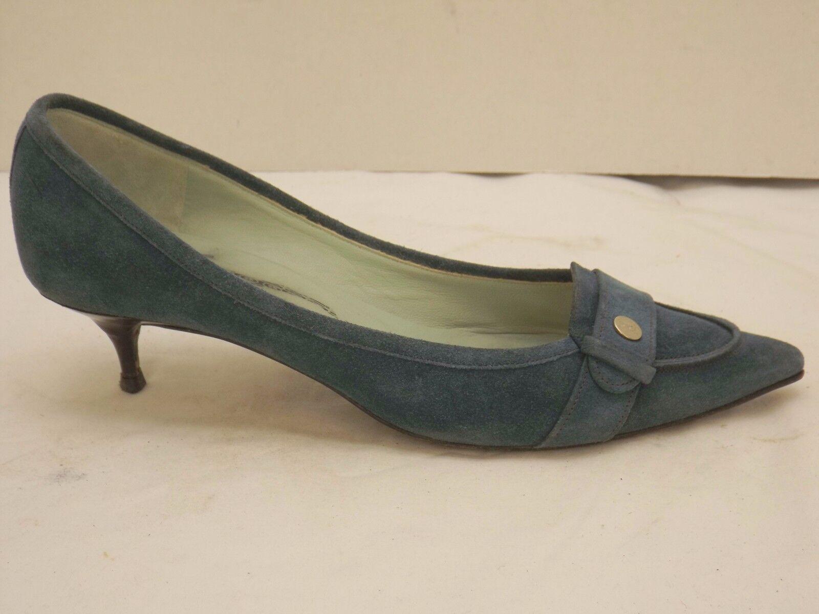 risparmia fino al 70% di sconto 6.5 B blu-verde Belle by by by Sigerson Morrison pointy toe kitten heels pumps scarpe  nuovo di marca