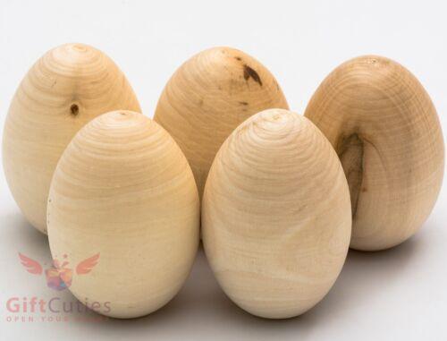 """Wooden 2.7/""""-2.8/"""" Chicken Hen Eggs Easter Wood Egg Pisanka Пасха"""
