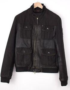 Armani Jeans Herren Freizeit Lederjacke Mantel Größe 50/M ARZ1215