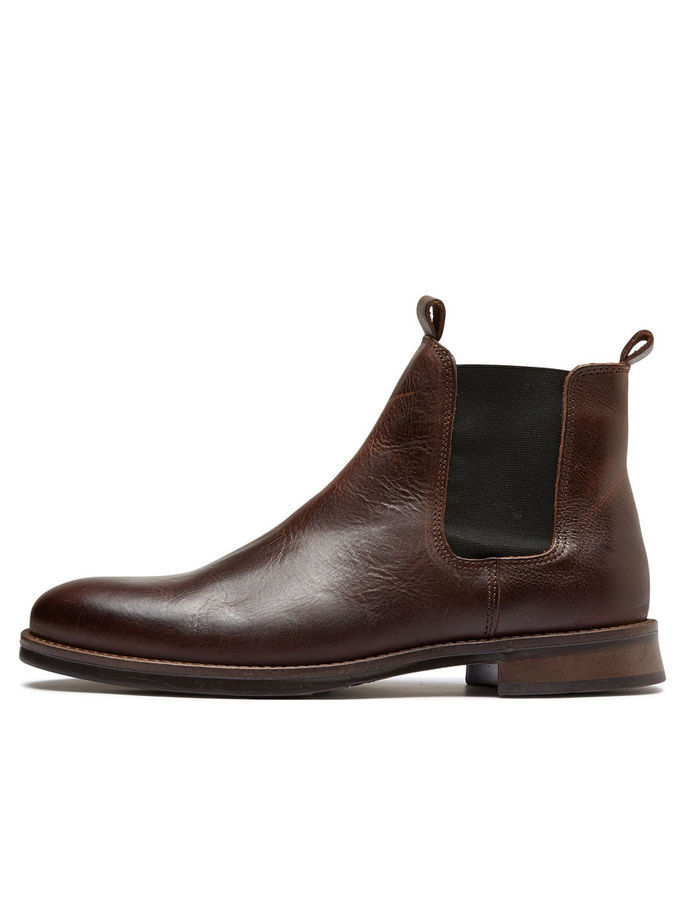 SELECTED SEL MARC - LEATHER CHELSEA BOOTS BROWN UK 12 EU 46 LN39 64