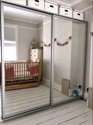 IKEA PAX White Large Double Sliding Mirrored Doors ...
