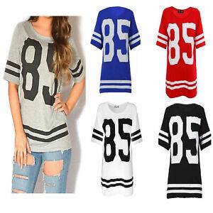 Womens-Ladies-American-Football-Baseball-85-Varsity-T-shirt-Jersey-Top-Size-8-14