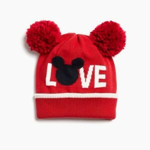 NEW Baby Gap MICKEY MOUSE LOVE POM BEANIE Disney Red Ears Winter ... ffaf2dd10795