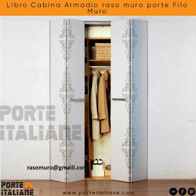 Armadio A Scomparsa Filo Muro.Libro Cabina Armadio Raso Muro Porte Filo Muro Ebay