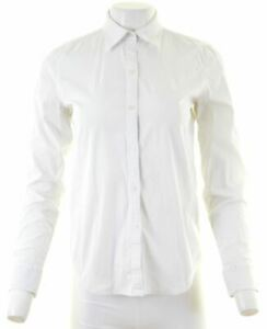 RALPH-LAUREN-Womens-Shirt-Size-10-Small-White-Cotton-Loose-Fit-NI03