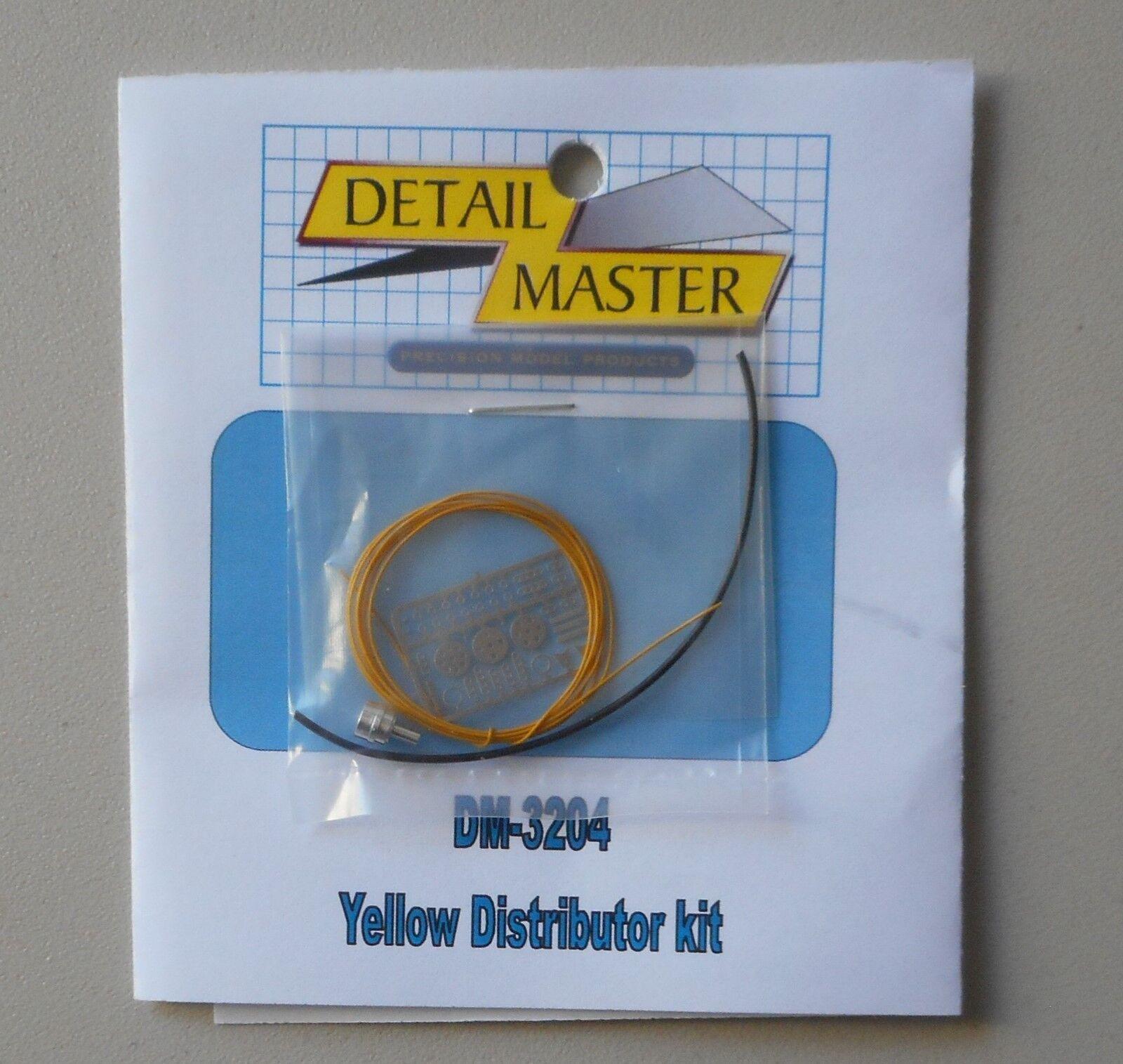 DETAIL MASTER 1//24-1//25 Wired Distributor Standard Kit Yellow DET3204