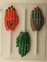 SCARY WRINKLED HAND LOLLIPOP CHOCOLATE CANDY MOLD MOLDS HALLOWEEN FAVOR