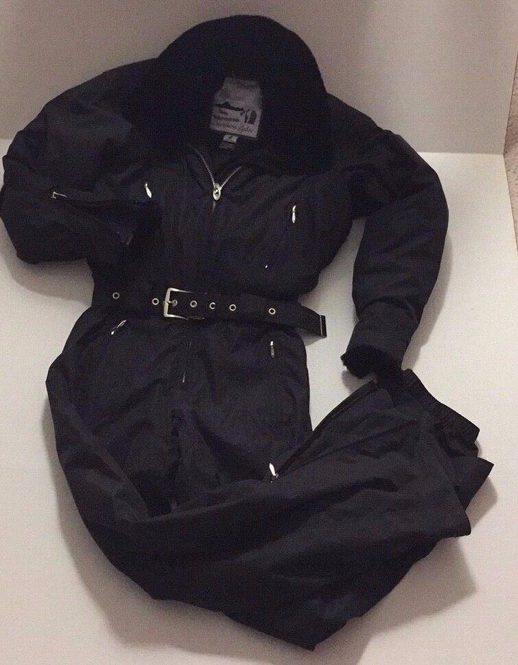 Vintage 90s Obermeyer Ski Board Suit faux  Fur collar+cuff Hidden hood Insulated  online shopping sports