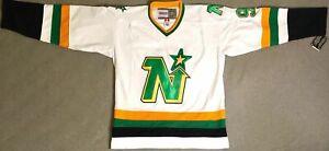 1989 Mike Modano Minnesota North Stars White Jersey Size Men's Medium
