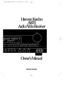 harman kardon avr 70 av receiver owners manual ebay rh ebay com Repair Manuals harman kardon avr 7000 service manual