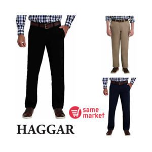 NEW-Haggar-Men-039-s-Stretch-Straight-Ultimate-Travel-Chino-Pants-VARIETY