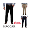 NEW-Haggar-Men-039-s-Stretch-Straight-Ultimate-Travel-Chino-Pants-VARIETY miniature 1