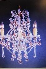 ELK LIGHTING 2990/3-1 VERONA RUST 4 LIGHT CHANDELIER RUST W CRYSTAL CLEAR BLUE