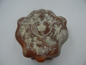 Vintage Alabaster Jewelry Box ~ Powder Box ~ Mother/'s Day Gift