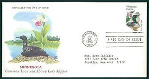 États-unis Fdc 1982 Oiseaux & Plantes Minnesota Oiseau Birds Bird Plant Oiesaux Cl86-afficher Le Titre D'origine