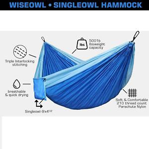 Single Hammock Camping Nylon Outdoor Garden Hanging Bed Yard Cradle Swing Chair
