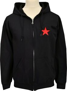 Gothic Star Emo Bestickt Alternative Hoodie Punk Red Sowjetischen Zipper Hoody Oqxw8FH8