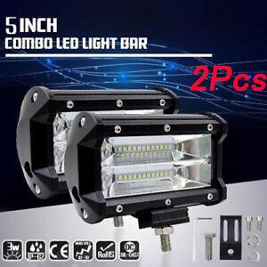 2X-72W-LED-Work-Light-Bar-Flood-Spot-Light-12V-24V-Off-Road-Car-Truck-SUV-Lamp