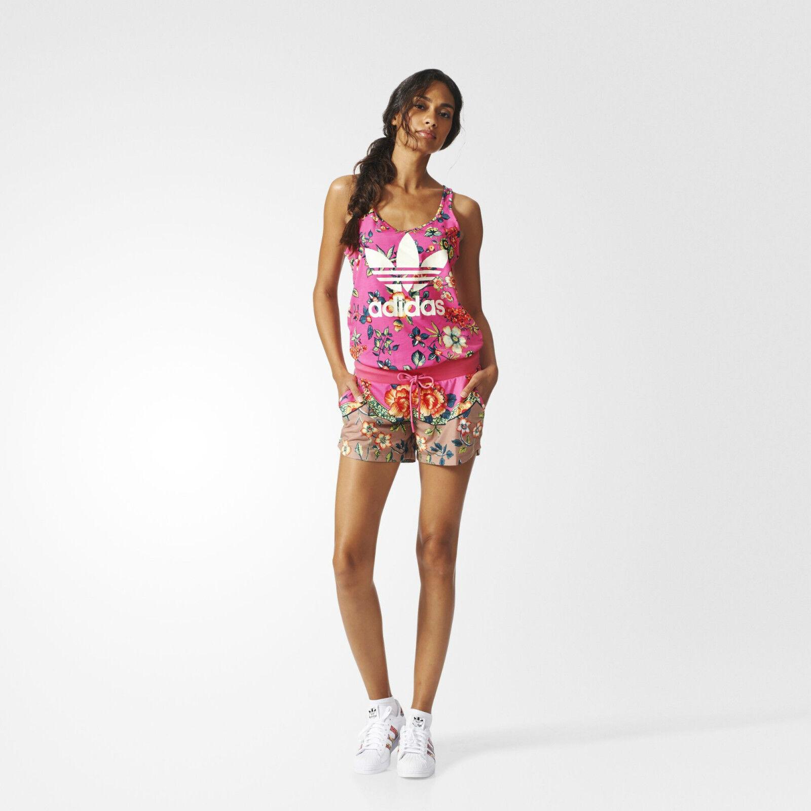 Adidas Originals W Jardineto Pink Jumpsuit Size New  (532)
