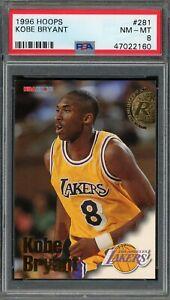 Kobe Bryant Los Angeles Lakers 1996 Hoops Rookie Basketball Card RC #281 PSA 8