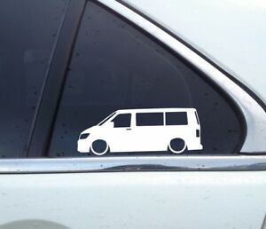 2x Lowered Stickers Auto Aufkleber For Vw T6 Multivan