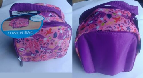 Fit /& Fresh Kids Girls school Pink Lunch Bag Food INSULATED PVC-Free Your Choice