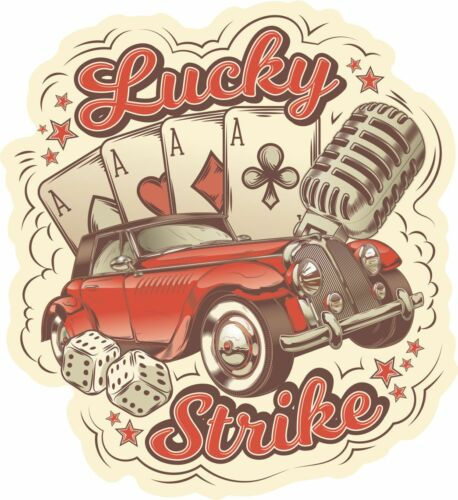 Rockabilly stickers rocknroll vintage rocker guitar hot rod sticke decal 001