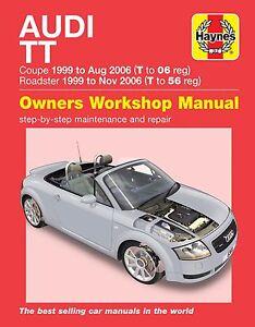 Haynes-Manual-6369-Audi-TT-1-8T-2WD-amp-4WD-1999-to-2006-Models