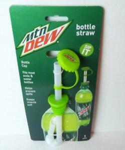 Mountain-Dew-Bottle-Straw-Cap-Beverage-Topper-Plastic-Travel-Sip