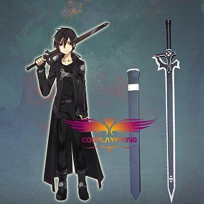Sword art online kirito kazuto kirigaya black swords cosplay prop WOOD sword