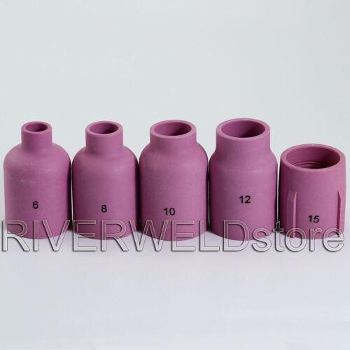 WIG TIG Jumbo Gaslinse Spannhülse Keramikdüse Brennerkappe Für PTA SR WP17 18 26