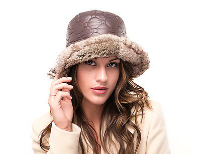 BRAND NEW LADIES BROWN SUEDE FAUX FUR FASHION CASUAL WINTER CLOCHE HAT IMOGEN