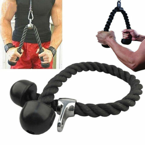 Black Biceps Triceps Muscle Pull Rope Drawstring Home Gym Exercise Fitness