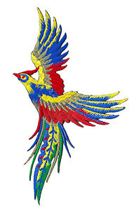 Ecusson-patche-Phoenix-Paon-oiseau-celeste-patch-thermocollant-brode