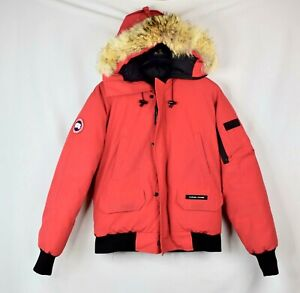 Mens-Canada-Goose-Chilliwack-Bomber-Red-Size-Small-S-Jacket-Coat-Coyote
