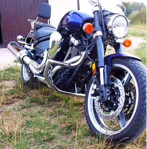 Yamaha-XV1700-Warrior-Stainless-steel-crash-bar-engine-guard-pegs