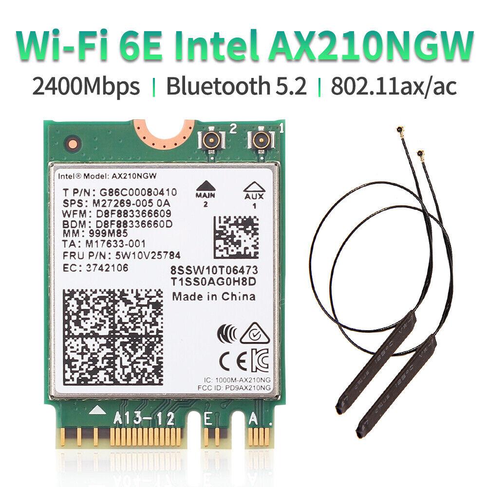 Intel AX210 wifi card wifi 6E 802.11ax Network Card for PC Windows with Antennas