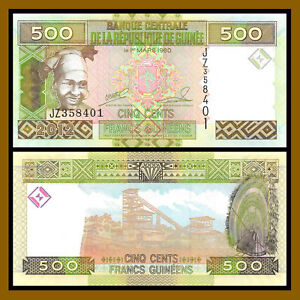 Guinea 500 Francs Woman//Minehead//p39b UNC 2012