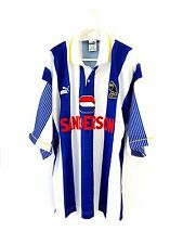 Sheffield Wednesday Home Shirt 1993. Large. Umbro. Blue Adults L Sheff Wed Top.