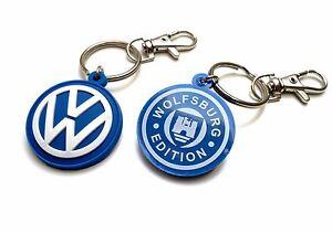Image is loading VW-Keyring-soft-PVC-rubber-Volskwagen-keychain-WOLFSBURG- 9e6289e0e