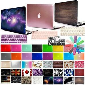 Revetu-de-gomme-Mat-Coque-Rigide-GB-EU-Couvercle-de-clavier-pour-Apple-Macbook