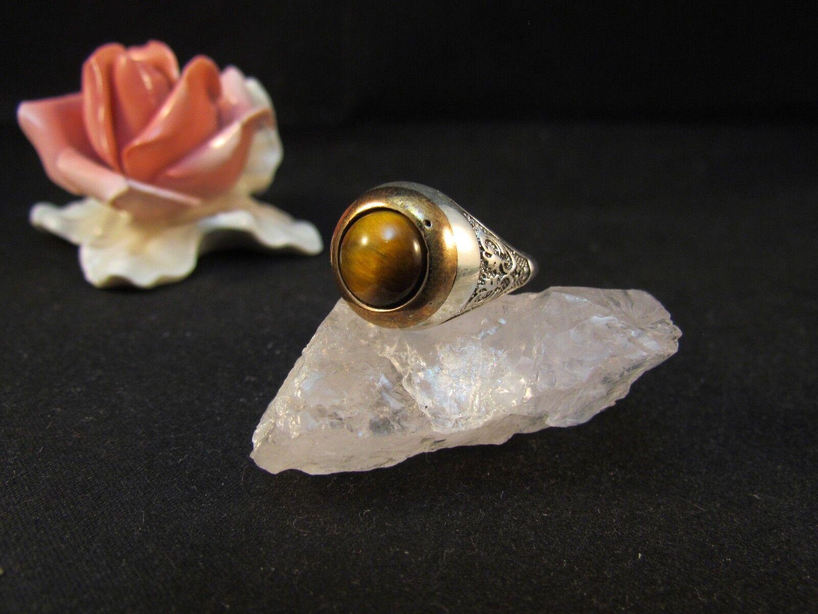 silverring Männerring Siegelring Ring Sterlingsilver 925 Handarbeit Tigerauge 66