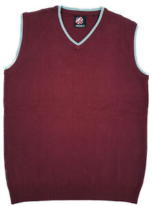 Warrior-UK-England-Burgundy-Tank-Top-Sleeveless-Sweater-Jumper-Skinhead-Mod