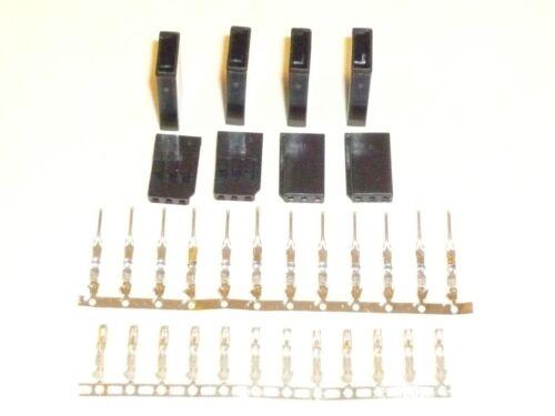 4 servos futaba connectors 3 pins males females or m//f crimp pins