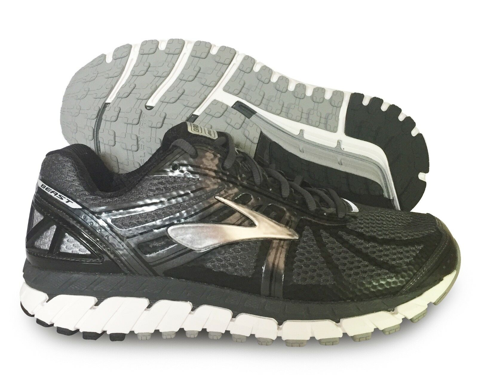 Brooks Beast 16 Homme Chaussure Anthracite Noir Argent Tailles Multiples NEW IN BOX
