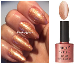 BLUESKY-GEL-POLISH-COPPER-GOLD-80542-NAIL-LED-UV-SOAK-OFF-LIMITED-SALE-PRICE