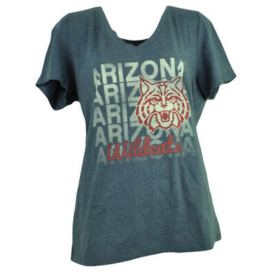 Weitere Ballsportarten FleißIg Ncaa Arizona Wildcats Repeat Logo Damen V-ausschnitt T-shirt Blau Kurzarm L Eine VollstäNdige Palette Von Spezifikationen