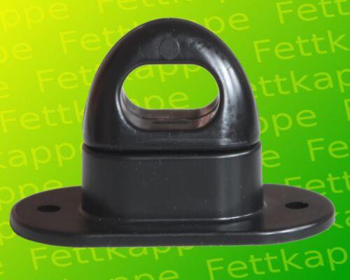 Länge 67 Breite 34 20x Kunststoff Drehverschluss für Ovalösen 42x22 mm schwarz