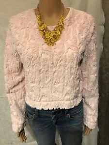 7c7236af Divided H&M- Pink Fleece Sweater w/ sequin sparkles- Size 6 | eBay