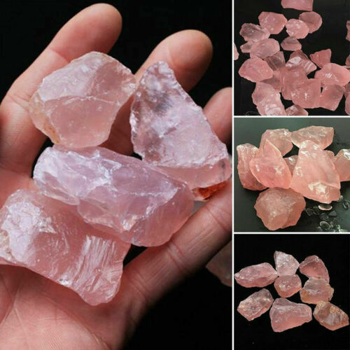 Natural Collectible Pink//Rose Quartz Crystal Stone Rock Mineral Specimen Healing